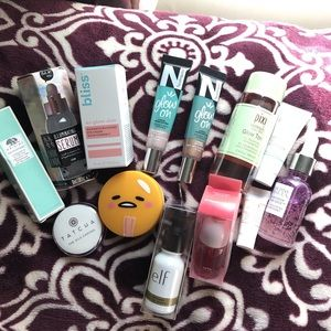 All the skincare items
